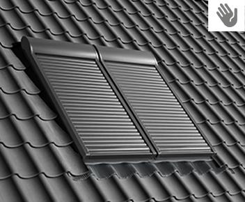 volet roulant velux manuel et solaire r duction. Black Bedroom Furniture Sets. Home Design Ideas